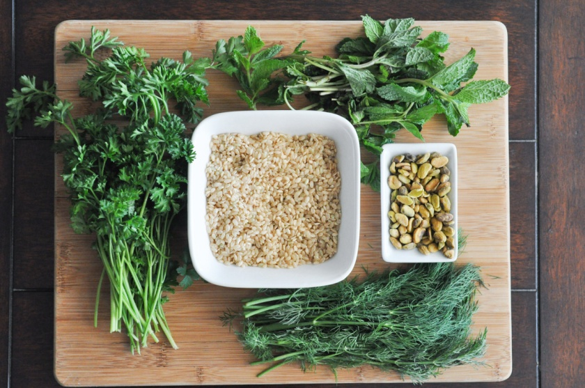 Spinach & Pistachio Herb Rice by Sarah Prikryl
